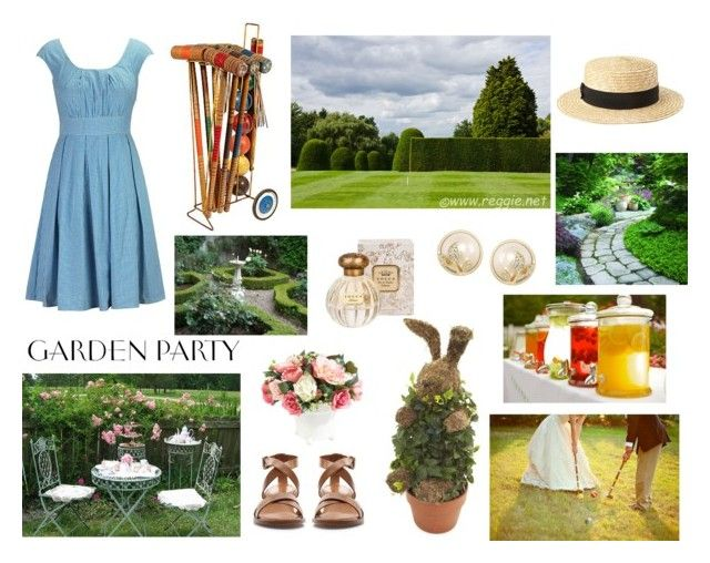 """""""Garden Party"""" by sally-plouffe-writerr ❤ liked on Polyvore featuring eShakti, Zara, Forever 21, Ethan Allen, Tocca and Carolee"""