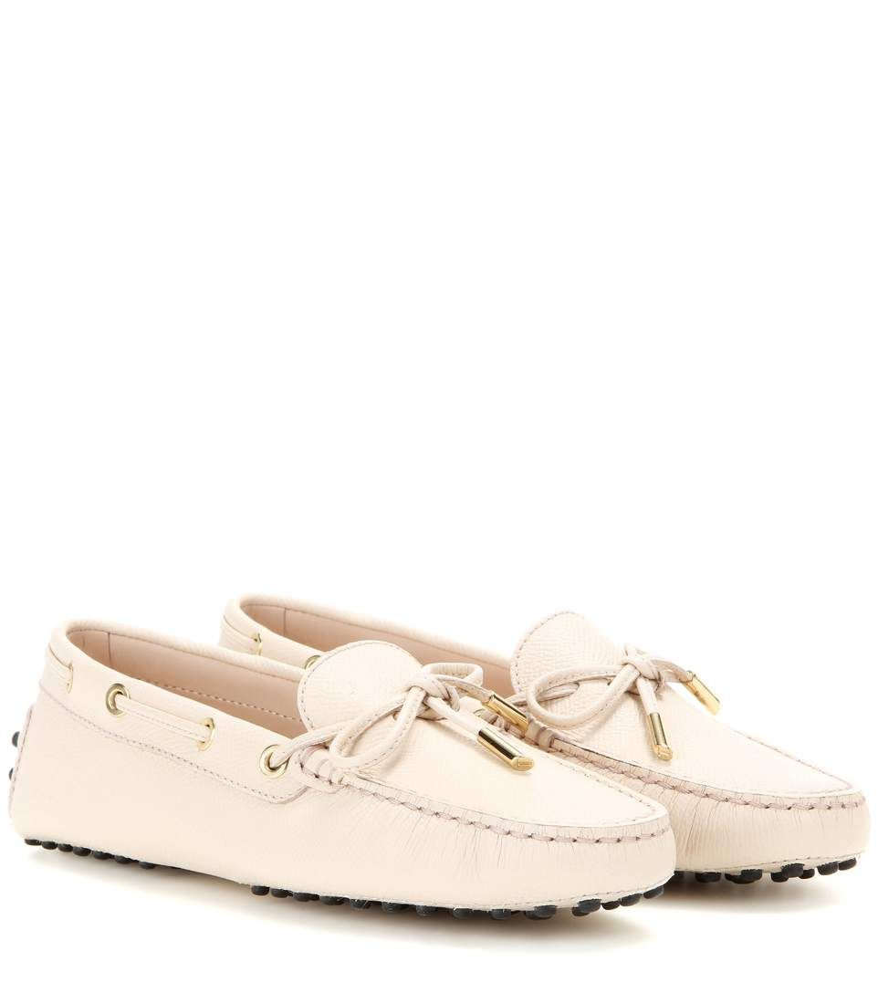 TOD'S Heaven New Lacetto Leather Loafers. #tods #shoes #flats