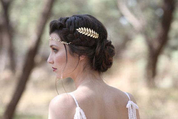 Athena peine peine nupcial de hoja de oro Dama de por avigailadam