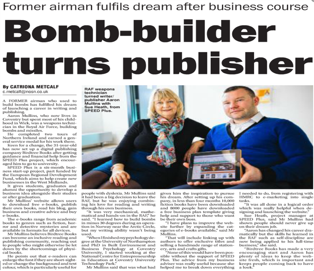 The origins of Birdtree Books is revealed in a newspaper article!! #writer #author# publisher #publishing #ebooks