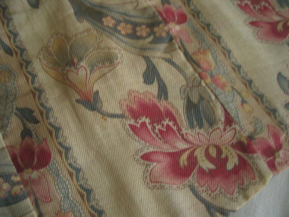 Vtg Antique Art Nouveau Printed Fabric Lingerie holder Original Period Fabric