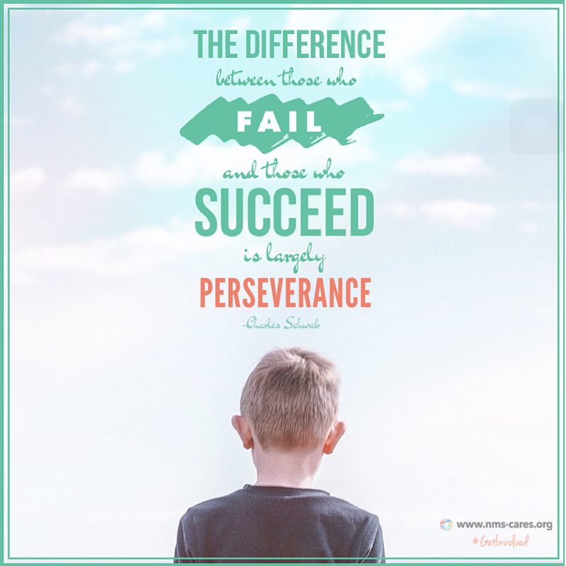 Perseverance is the key to success! ;)