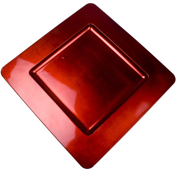 Standard Red Square Charger Plate - 33cm x 33cm | Places to Visit ...