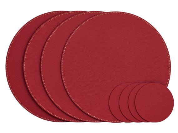 Samll Round Placemats Recycled Leather Place Mats And Etsy Placemats Stylish Table Decor Recycled Leather