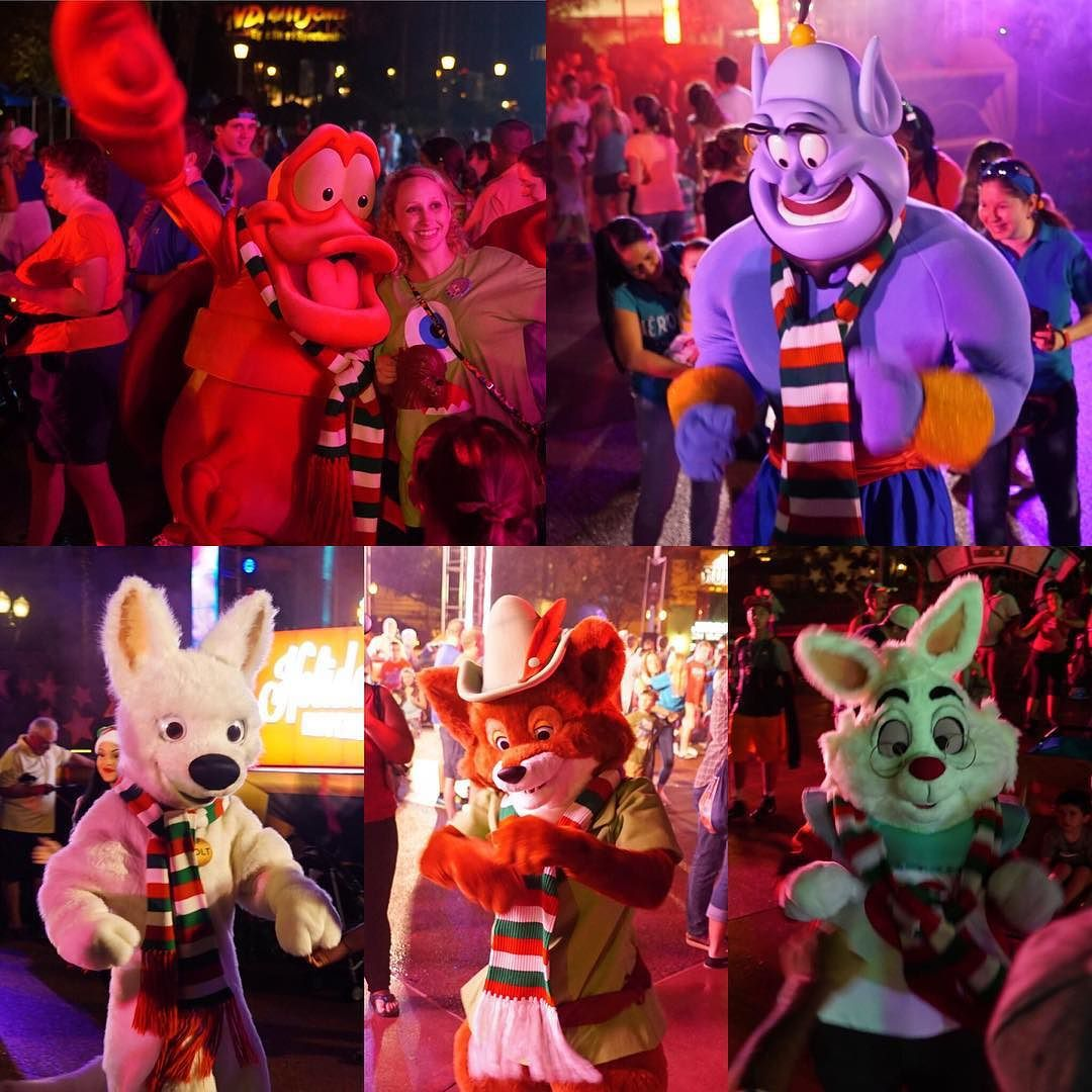 Attractions Magazine On Instagram Characters At Last Night S Holidays Happen Here Dance Party At Holl Hollywood Studios Disney Hollywood Studios Disney World