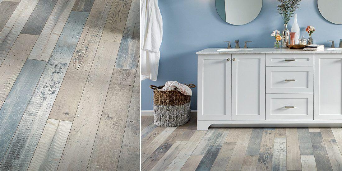 Easily Install Sky Blue Luxury Vinyl Floors In Your Bathroom