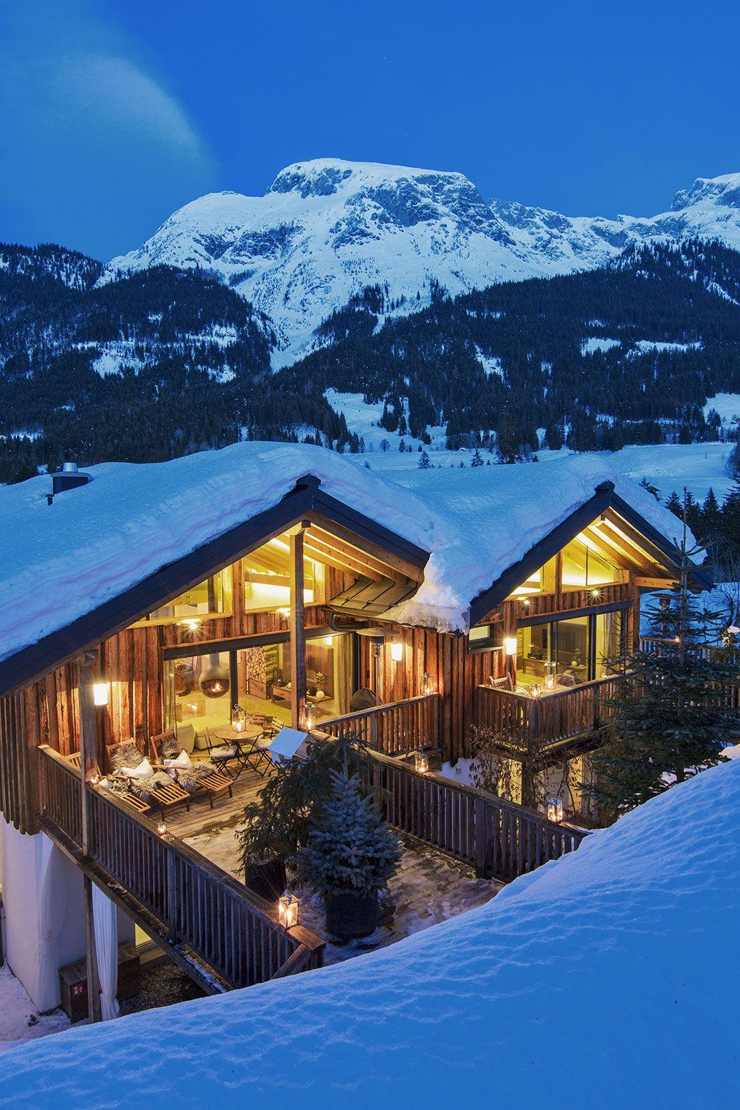 Die Luxuslodge Im Winter Chalet In Osterreich Style At Home Urlaub Berge