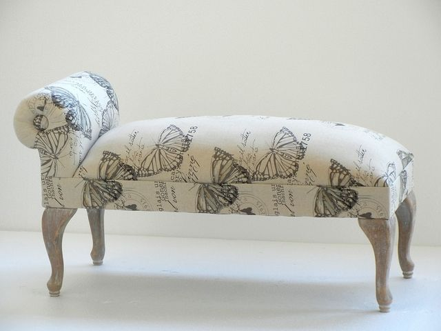 Banco tapizado pie de cama - Banco moderno