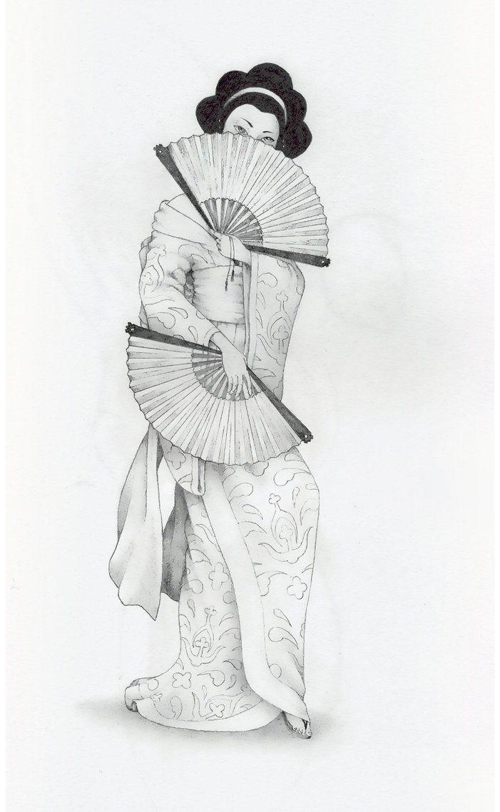 Как красиво нарисовать девушку японку это