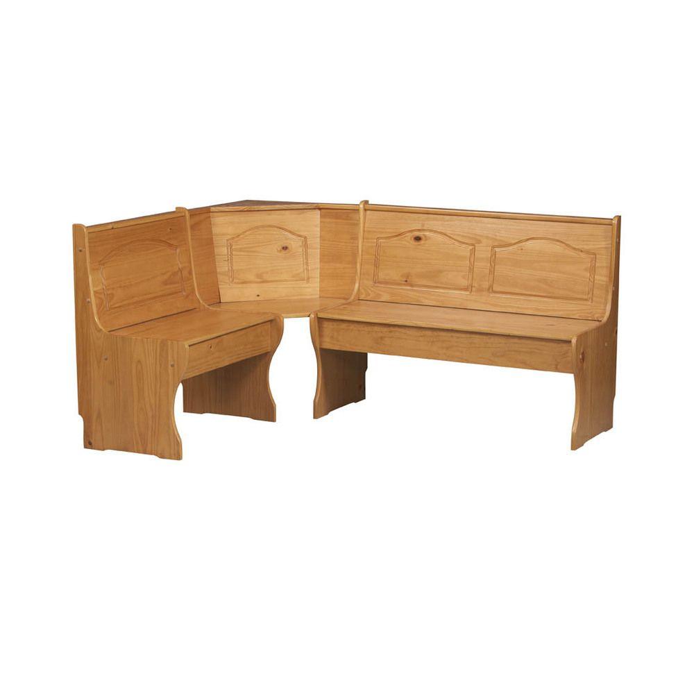 $226 Linon Chelsea Honey Corner Bench   Overstock™ Shopping - Great ...