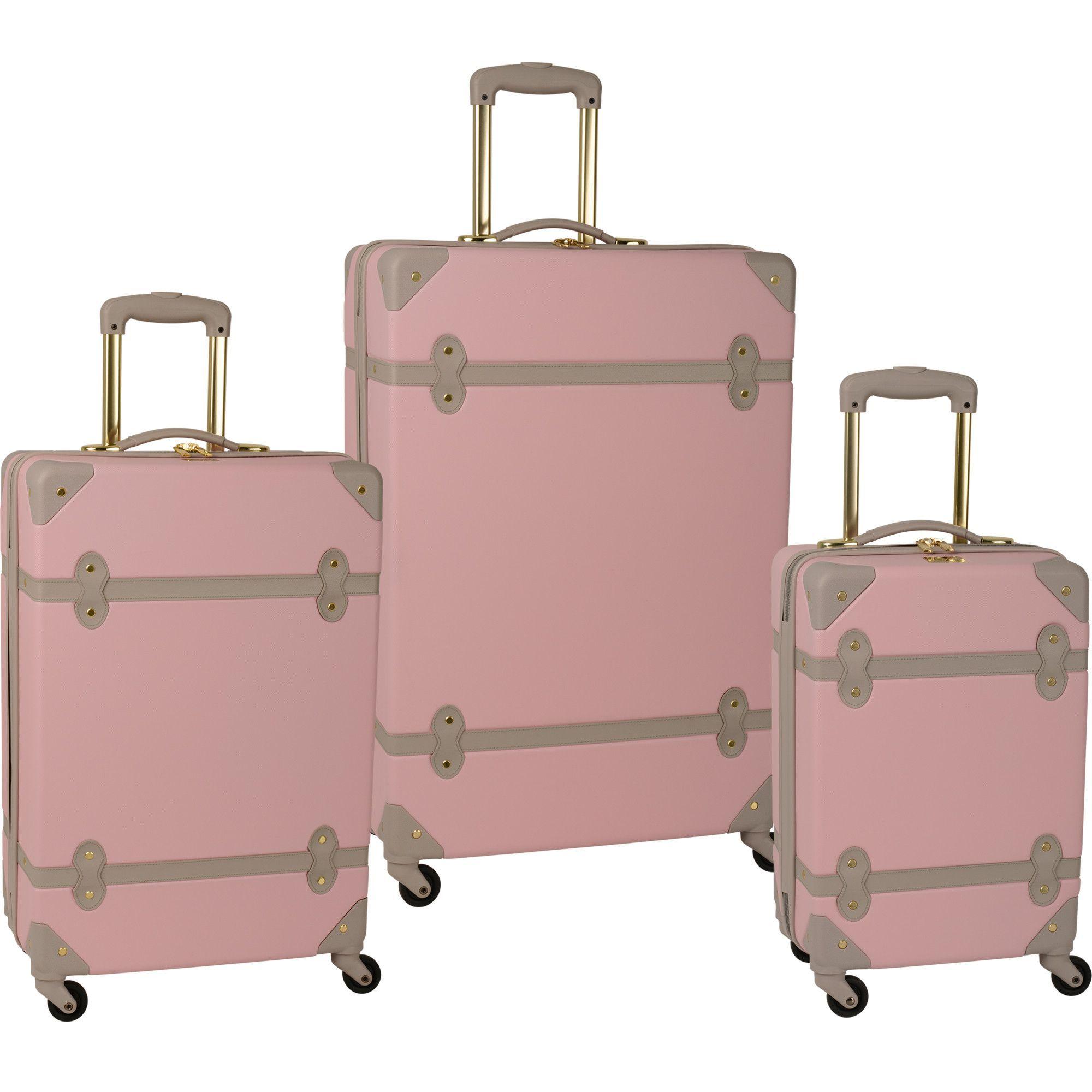 hardside vintage style luggage