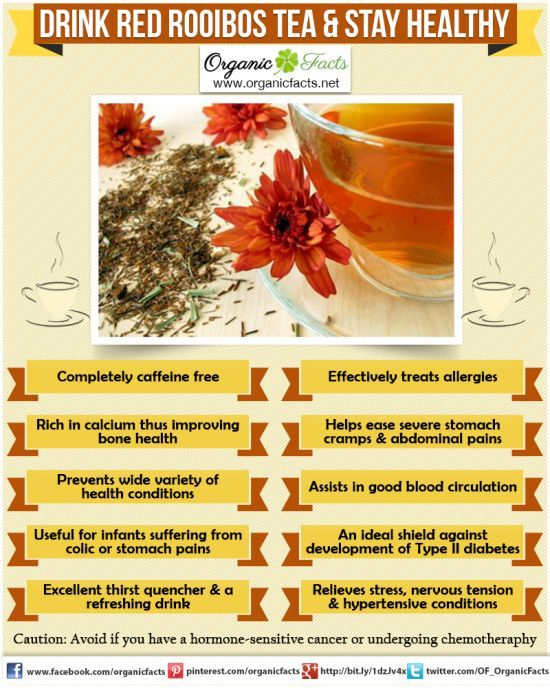 Health Benefits Of Red Rooibos Tea Organic Facts Red Rooibos Tea Rooibos Tea Rooibos