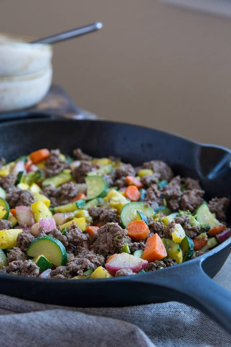 30 Minute Vegetable And Ground Beef Skillet 8 Ingredients Make This Nutritious Meal A Reality This R In 2020 Paleo Ground Beef Beef Skillet Recipe Keto Beef Recipes