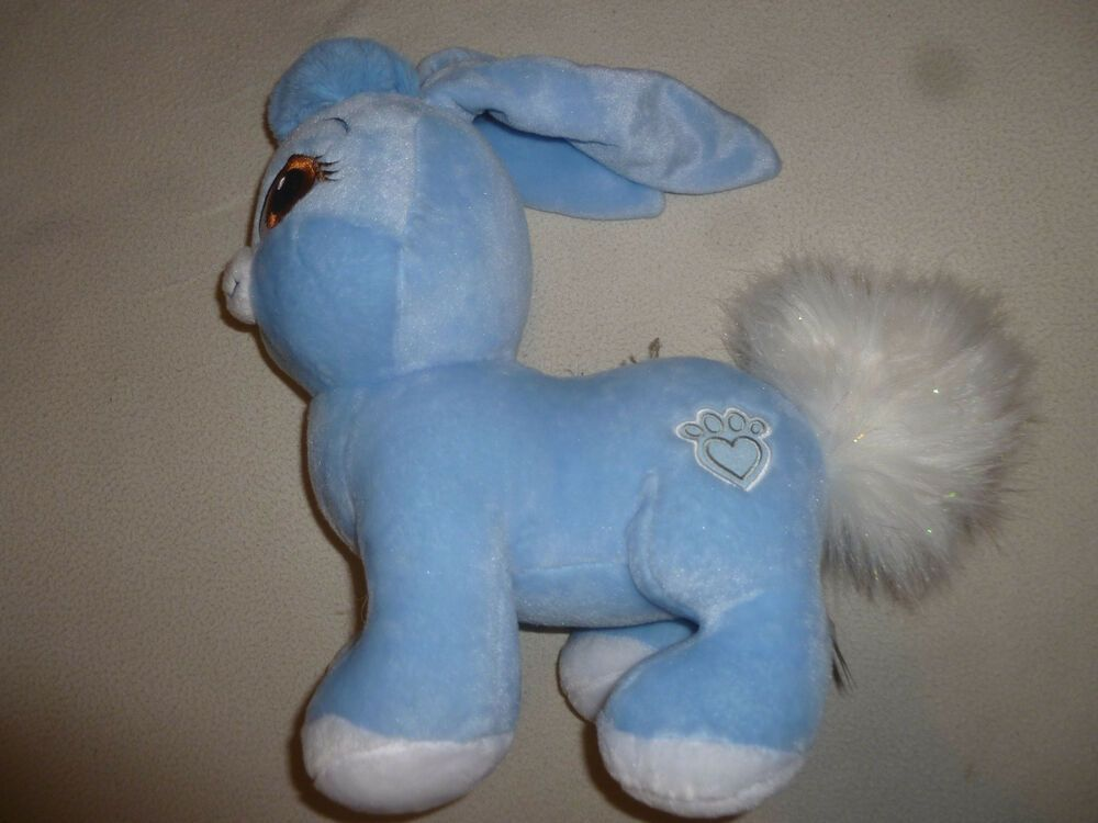 BUILD A BEAR PALACE PETS STUFFED ANIMAL BERRY BLUE BUNNY PLUSH BAB SNOW WHITE >> #BuildABearWorkshop #bunnyplush