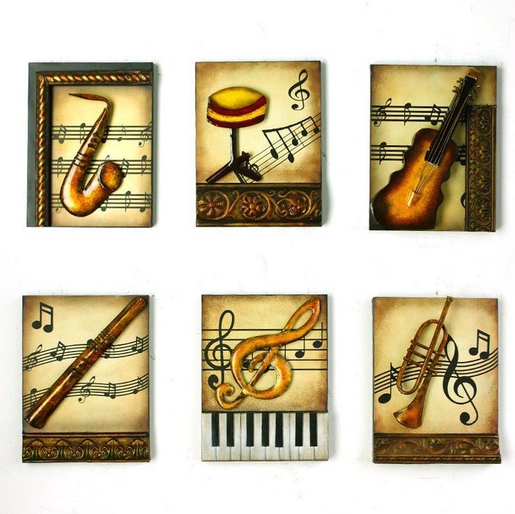 Modern-Home-Decoration-Metal-Wall-Art-3D-Musical-Instruments