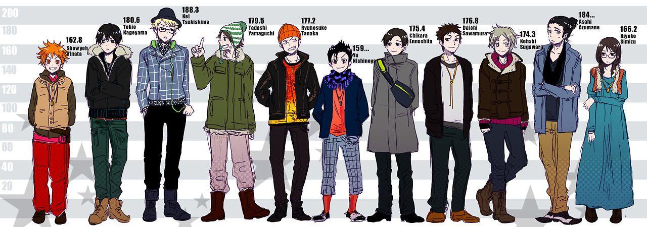 Haikyuu!! character heights | Anime/ Manga | Haikyuu, Hot