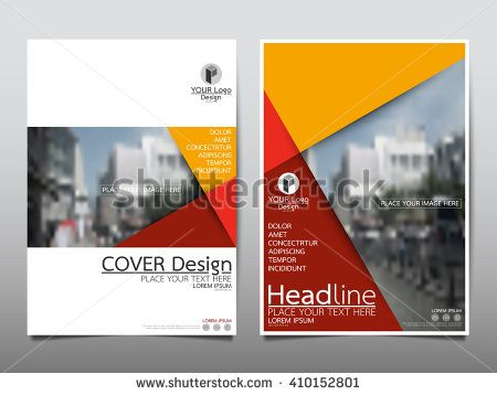 Yellow annual report brochure flyer design template vector, Leaflet cover presentation abstract flat background, layout in A4 size
