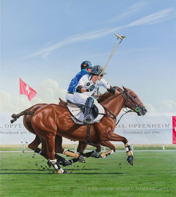 German Polo Masters, Keitum 2009 // acrylic on canvas, 110 x 130 cm for sale