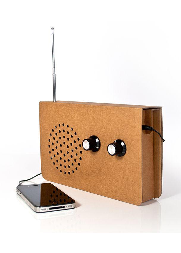 Cardboard Radio Karton Interieurdecoratie Cardboard Furniture