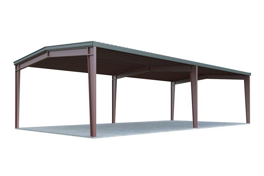 24x30 Carport Package Two Car Carport General Steel Shop Carport Designs Carport Steel Buildings