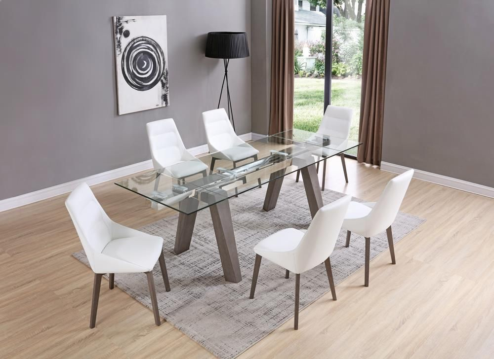 Whiteline Valencia Extendable Dining Table Extendable Dining