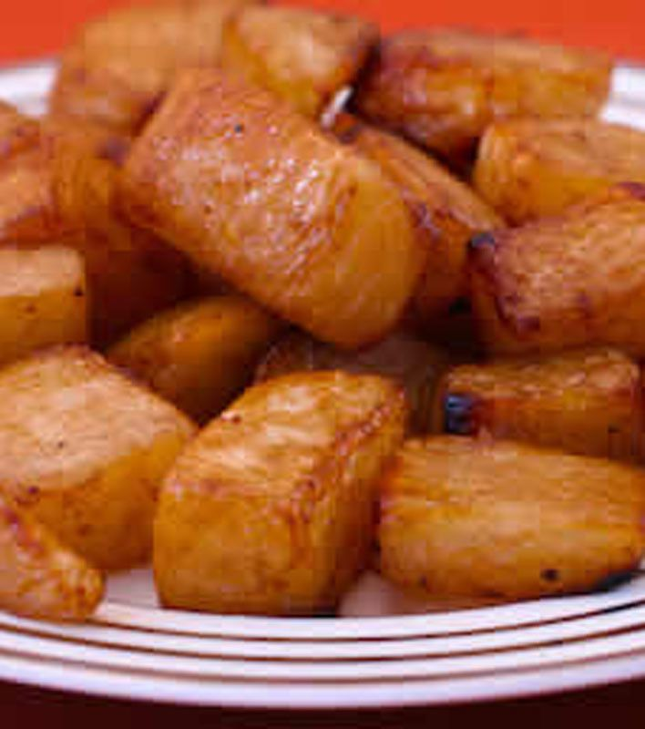 Roasted Turnips With Balsamic Vinegar And Thyme Recipe Turnip