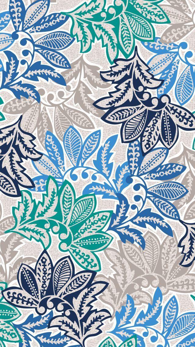 754ed433d02f Vera Bradley Cell Phone Wallpaper - Santiago Pattern