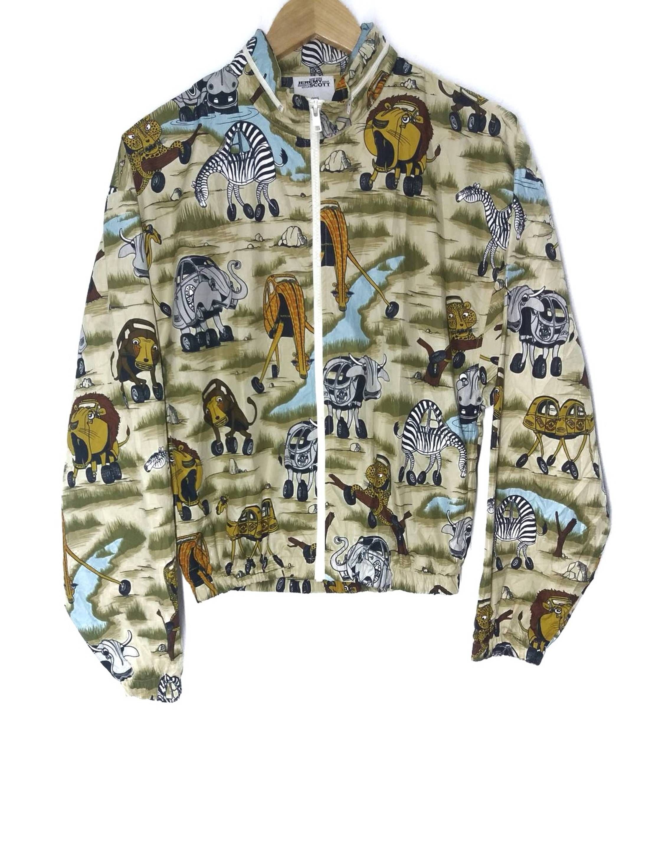 Adidas Jeremy Scott X Adidas Animal Graphic Hoodie Jacket Size US M   EU  48-50   2 - 1 1fd3ef2f2dac