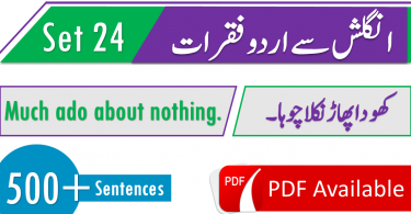 English Speaking sentences of daily use with Urdu Hindi