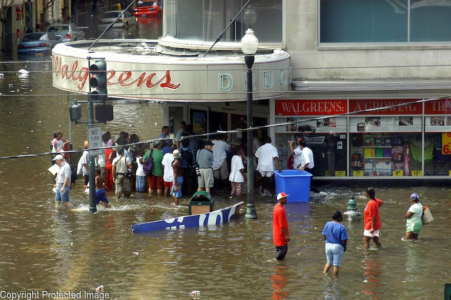 Image result for picture of looting during Katrina