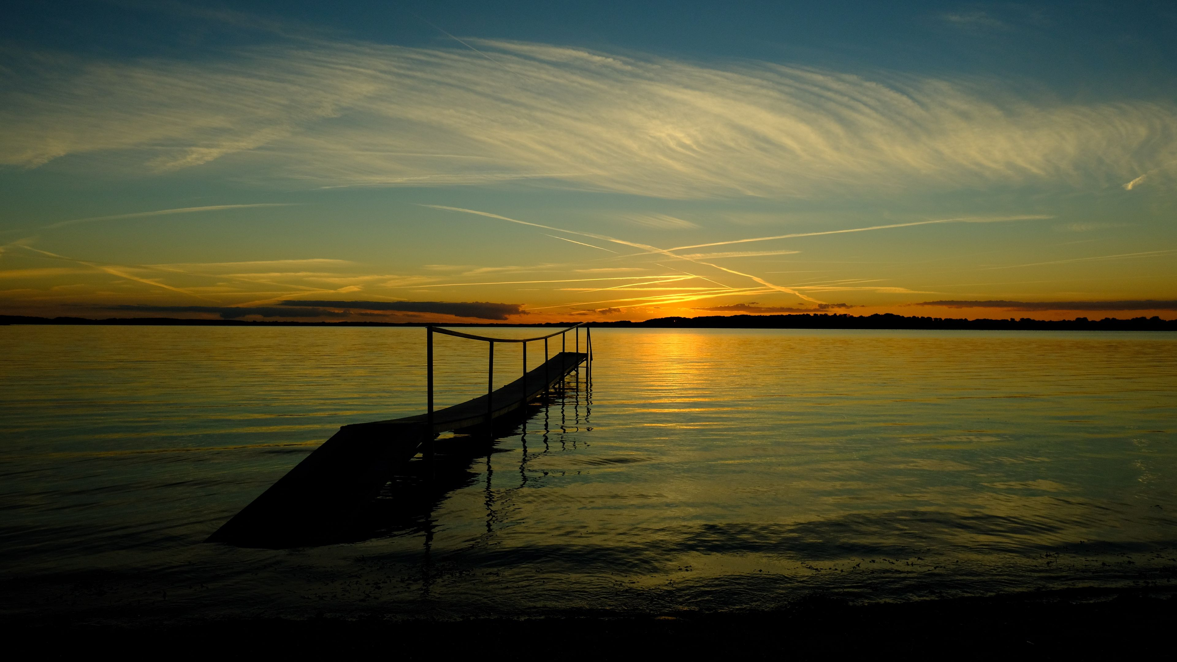 Bridge Sea Sunset Horizon River Pier Shore Sky 4k Sunset Sea Bridge Sky Sea Horizon Sunset Sunset Hd Wallpapers
