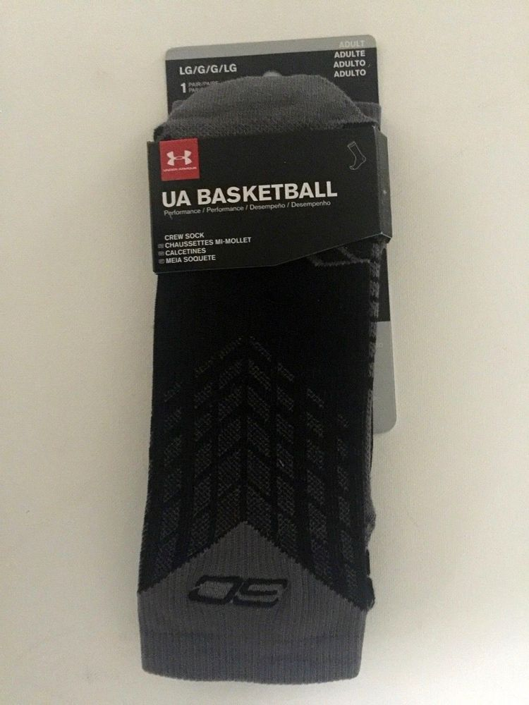 ea5e551851ef NWT Men s Under Armour UA Basketball Performance SC Crew Socks Large 9-12.5   Underarmour  AthleticCrew