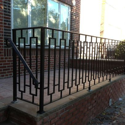 Porch Wood Railing Wrought Iron Design Pictures Remodel Decor