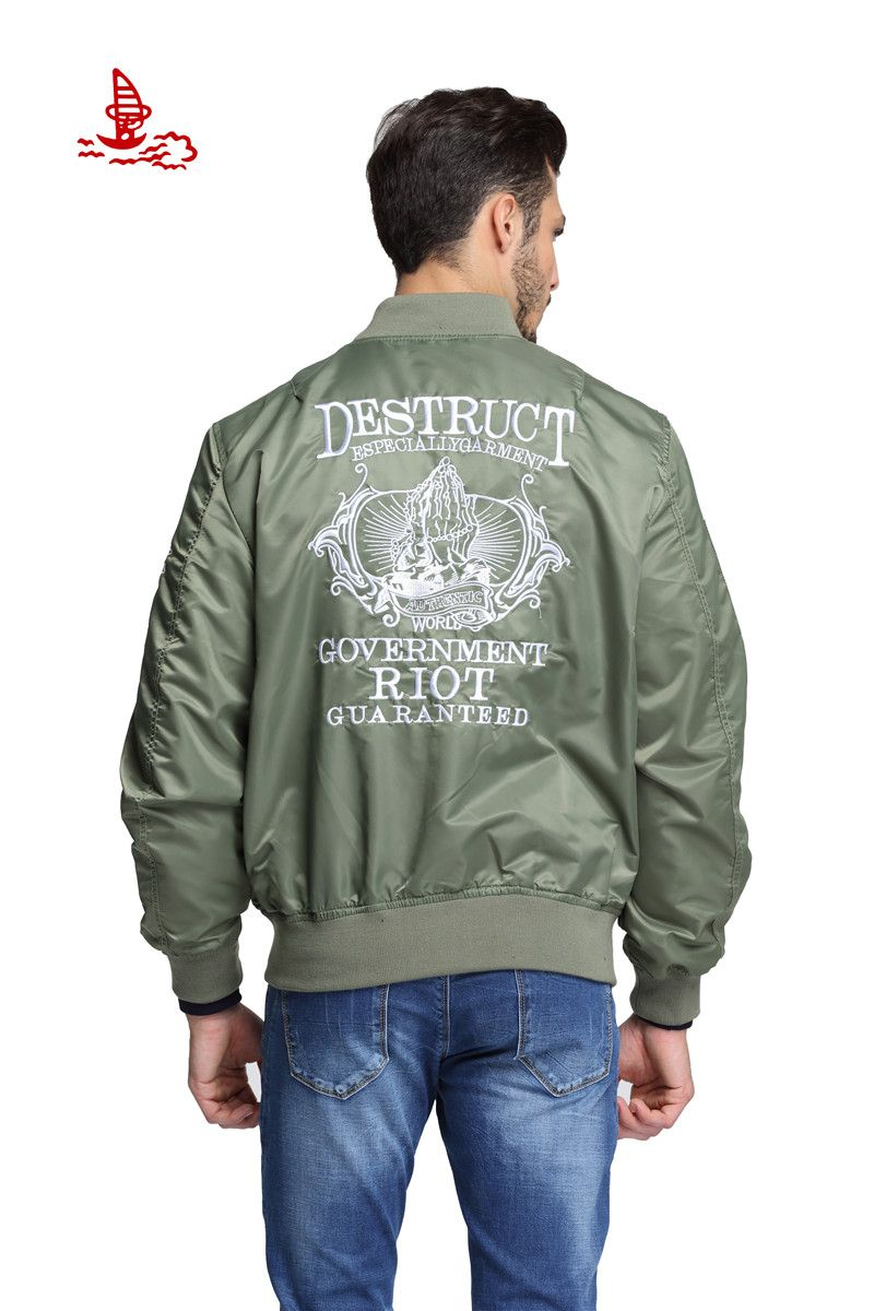 Embroidery Military Bomber Jacket Item Is Free Shipping Worldwide Fashion Autumn Winter Spring Military Bomber Jacket Bomber Jacket Flight Jacket [ 1200 x 800 Pixel ]