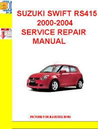 suzuki swift workshop manual pdf