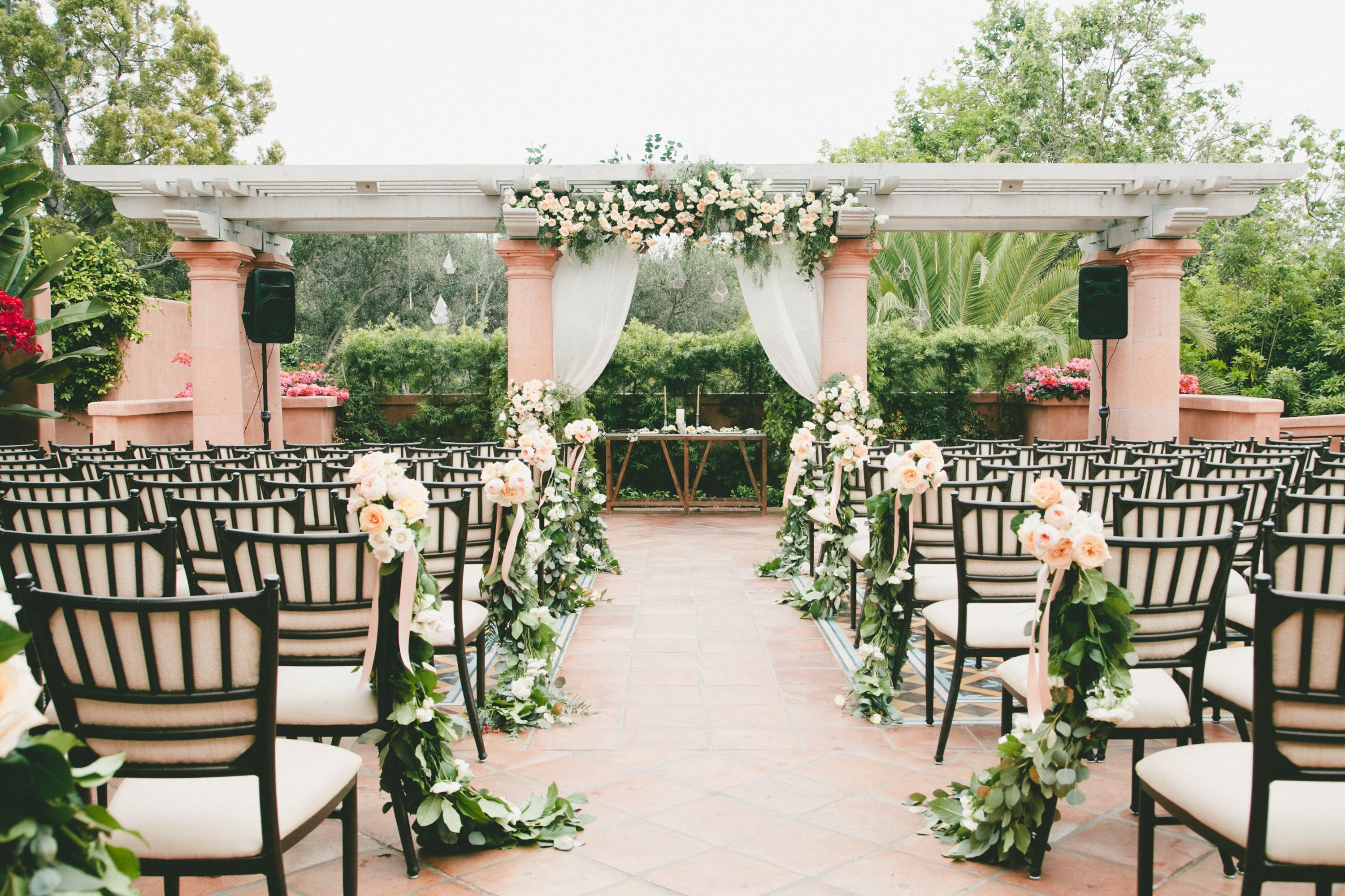 Outdoor garden wedding decoration ideas  Outdoor Garden Ceremony Under Pergola  Old Clarkston Theatre dream