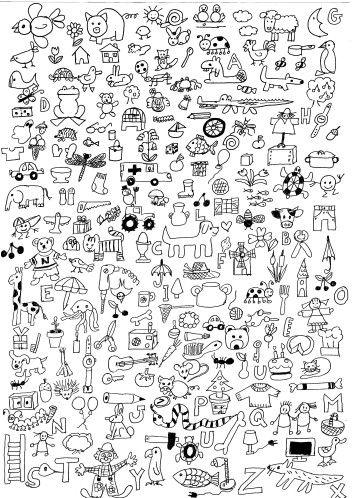 Cherche Et Trouve Les Lettres De L Alphabet Coloriage Education