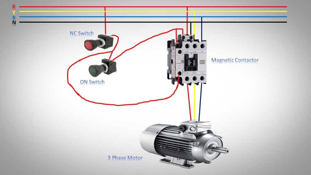 3 Phase Motor Star Connection Earth Bondhon Connection Motor Stars