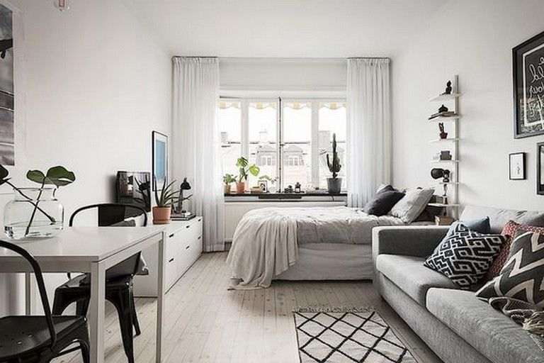 10 Admirable Ideas Of Minimalist And Simple One Room Apartment In 2020 Small Apartment Bedrooms Apartment Decor Inspiration Apartment Room