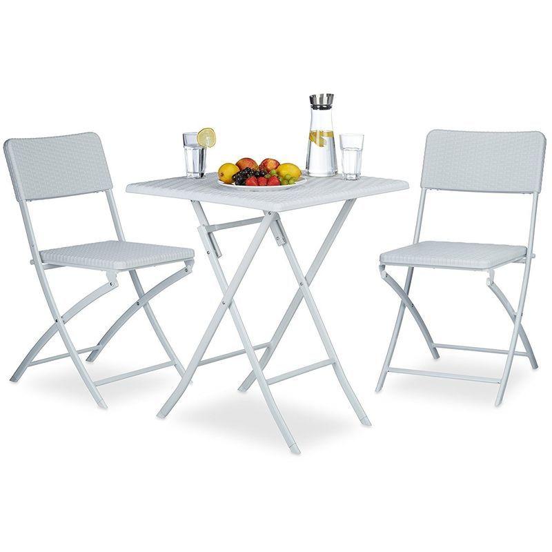 Ensemble Table Et Chaises De Jardin En Metal Terrasse Balcon Camping Blanc 2213017 Outdoor Furniture Outdoor Furniture Sets Furniture Sets