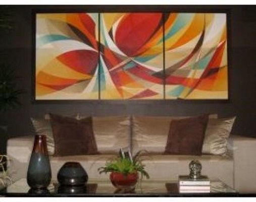 Imagenes de cuadros modernos para salas elegantes for Cuadros para salas pequenas