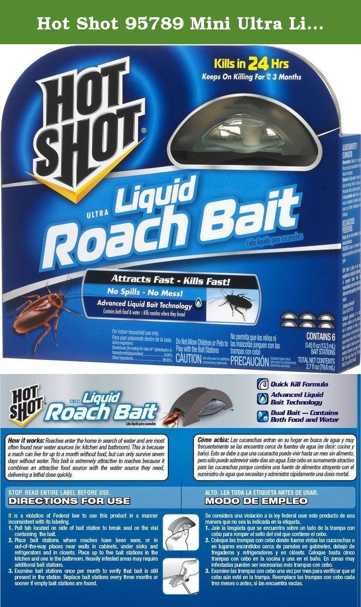 Hot Shot 95789 Mini Ultra Liquid Roach Bait 6 Count