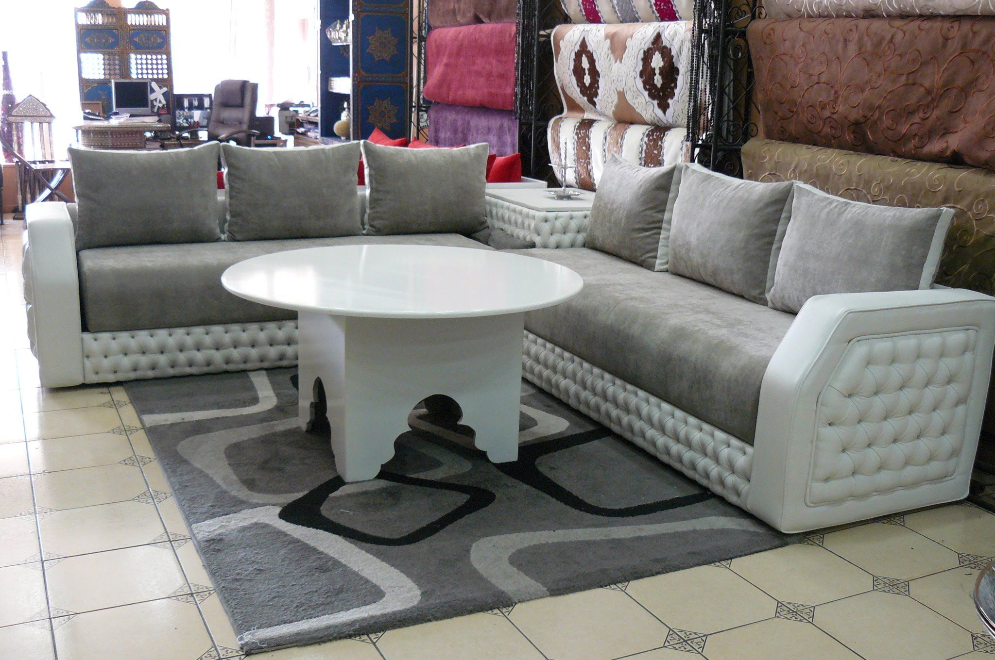 canap salon marocain gamme 2015 et 2016jpg - Sedari Marocain Blanc