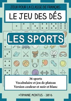 dice game to teach french ffl fsl sport french sports activities dice games teaching. Black Bedroom Furniture Sets. Home Design Ideas