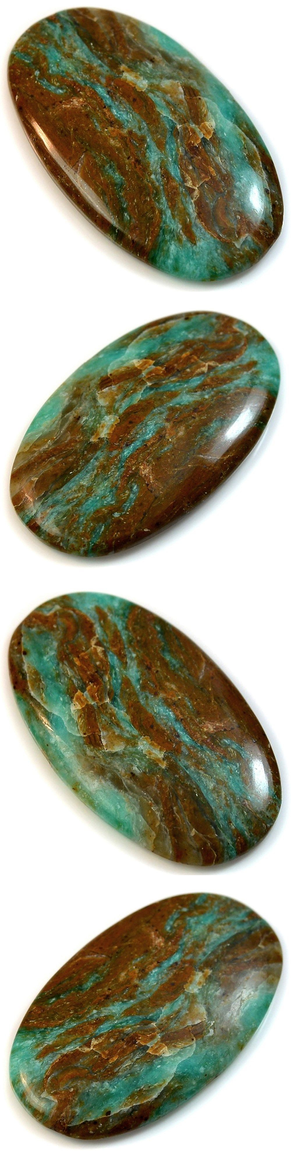 Other Loose Gemstones 282: 59.5Ct Huge Natural Peruvian Blue Opal (52Mm X 30Mm) Cabochon -> BUY IT NOW ONLY: $34.48 on eBay!