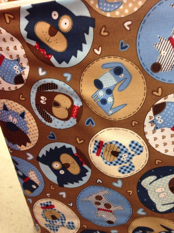 086d66755d8 Blue and brown dog themed ring sling for carrying your pet Up