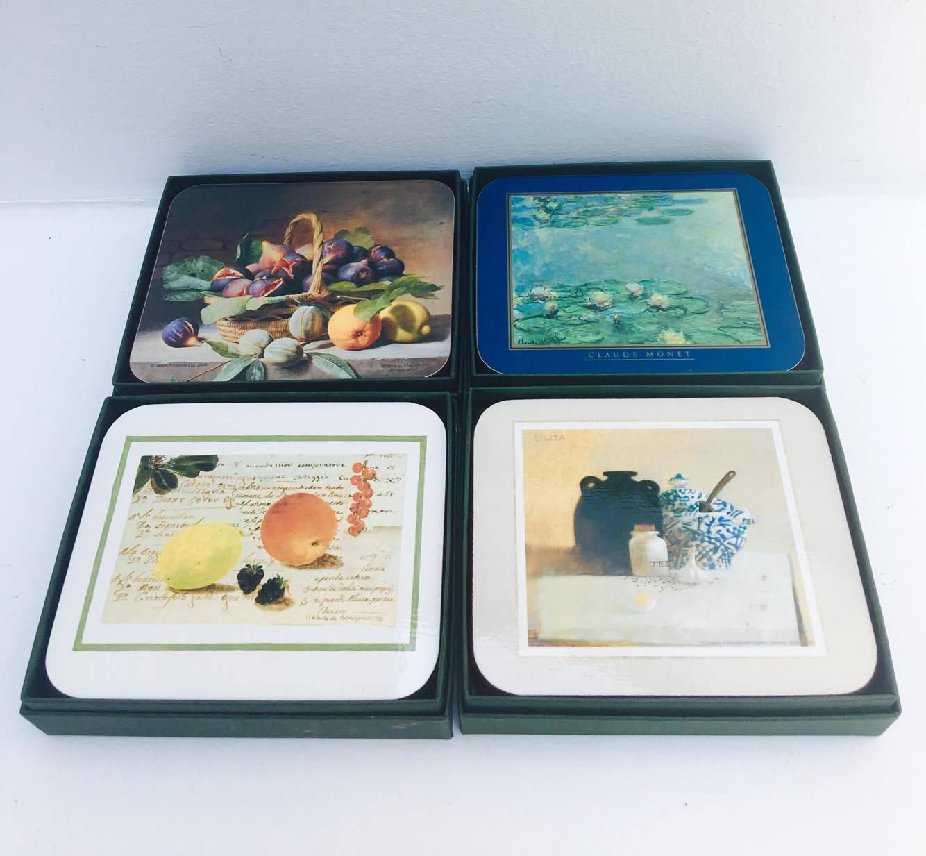 Coasters By Jason Set Of Six 4 Boxes With Differents Designs All Boxed As New Cork Coasters Hardboard Costers 1 By Isabelle De Borchgrave Cork Coasters Coasters Design