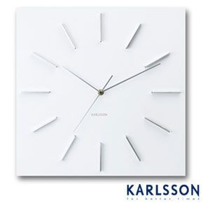 Karlsson Delicate Square White Clock Design Ideas