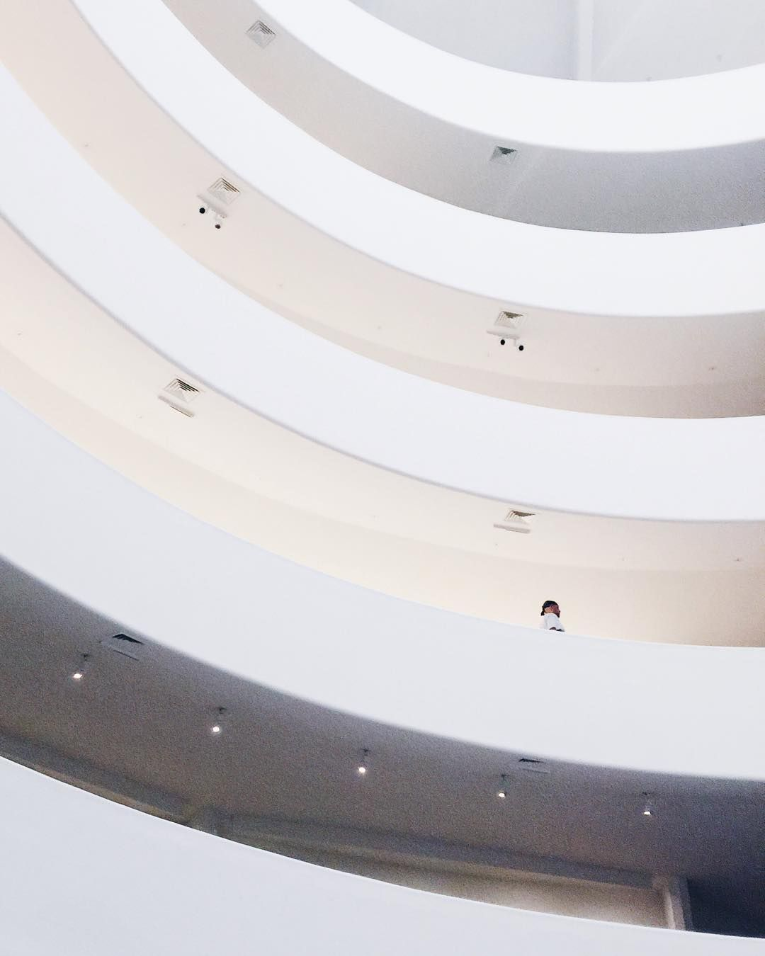 It's just my luck that I would go to the Guggenheim on one of the three times they close the Rotunda to change out the artwork. Doh!  #guggenheim #rotunda #minimal #NYC #art #travel #museum