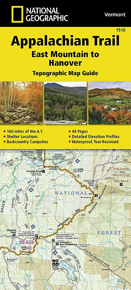 Appalachian Trail Topographic Map Guide East Mountain To Hanover By